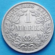 Германия 1 марка 1908 год. Серебро А.