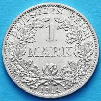 Германия 1 марка 1914 год. Серебро А.
