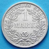 Германия 1 марка 1915 год. Серебро А.