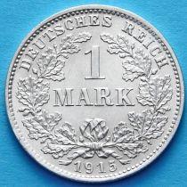 Германия 1 марка 1915 год. Серебро D.