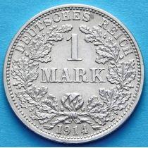 Германия 1 марка 1914 год. Серебро F.