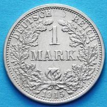 Германия 1 марка 1915 год. Серебро F.