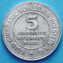 Германия 5/100 марок 1923 год. Нотгельд Шлезвиг-Гольштейн.