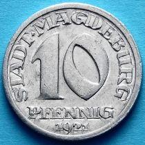 Германия 10 пфеннигов 1921 год. Нотгельд Магдебург.