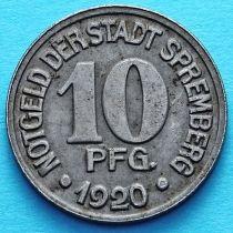 Германия 10 пфеннигов 1920 год. Нотгельд Шпремберг.