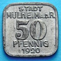 Германия 50 пфеннигов 1920 год. Нотгельд Мюльхайм на Руре.