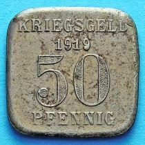 Германия 50 пфеннигов 1919 год. Нотгельд Мюльхайм на Руре.
