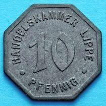 Германия 10 пфеннигов 1917 год. Нотгельд Липпе.