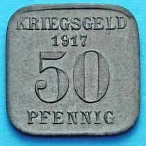 Германия 50 пфеннигов 1917 год. Нотгельд Мюльхайм на Руре.