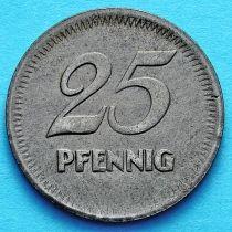 Германия 25 пфеннигов. Нотгельд Мангейм.