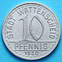 Германия 10 пфеннигов 1920 год. Нотгельд Ваттеншайд.