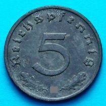Германия 5 рейхспфеннигов 1941 год. Монетный двор А.