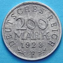 Германия 200 марок 1923 год. F.