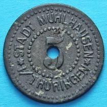 Германия 5 пфеннигов 1917 год. Нотгельд Мюльхаузен.