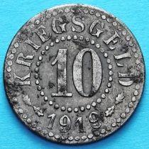 Германия 10 пфеннигов 1919 год. Нотгельд Франкфурт на Одре.
