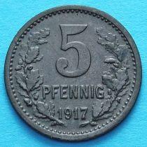 Германия 5 пфеннигов 1917 год. Нотгельд Бонн.