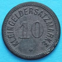 Германия 10 пфеннигов 1917 год. Нотгельд Дармштадт.