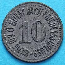 Германия 10 пфеннигов 1917 год. Нотгельд автобусный Ноймаркт.
