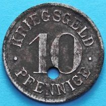 Германия 10 пфеннигов. Нотгельд с отверстием Гейдельберг.