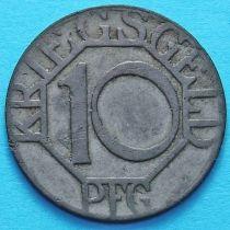 Германия 10 пфеннигов 1917 год. Дортмунд.