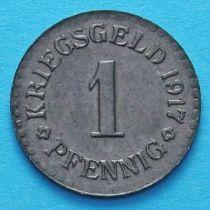 Германия 1 пфенниг 1917 год. Нотгельд Кассель.
