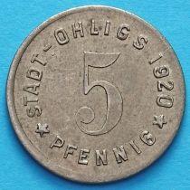 Германия 5 пфеннигов 1920 год. Нотгельд Олигс.