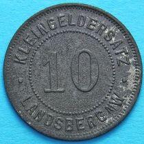 Германия 10 пфеннигов 1917-1920. Нотгельд Ландсберг.