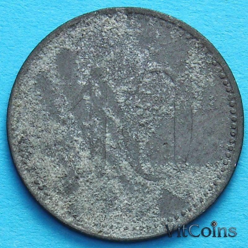 Монета Германии 10 пфеннигов 1917 год. Нотгельд Лауинген.