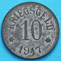 Германия 10 пфеннигов 1917 год. Нотгельд Пфаффенхофен-на-Ильме.
