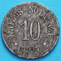 Германия 10 пфеннигов 1917 год. Нотгельд Хам, Бавария.
