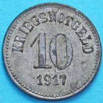 Германия 10 пфеннигов 1917 год. Нотгельд Фюрт, Бавария.