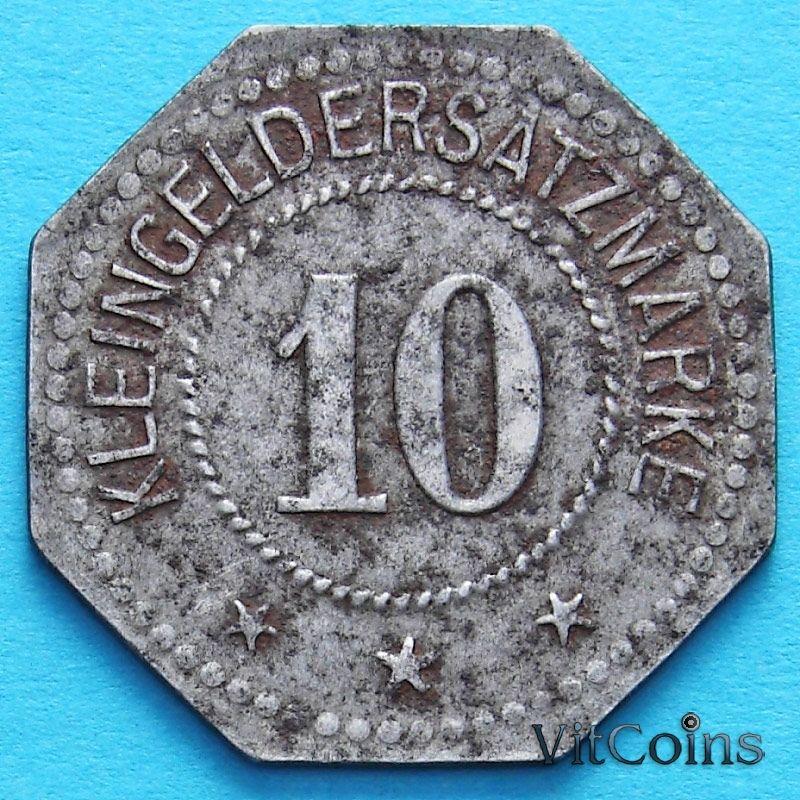 Монета Германии 10 пфеннигов 1917-1920. Нотгельд Лихтенфельс.
