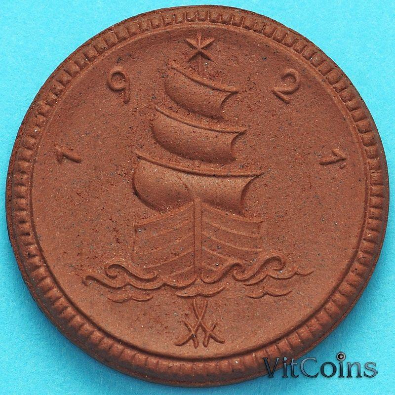 Монета Германии 1 марка 1921 год. Нотгельд Саксония.