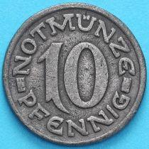 Германия 10 пфеннигов 1920 год. Нотгельд Аахен.