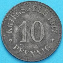 Германия 10 пфеннигов 1917 год. Нотгельд Кассель. Цинк.