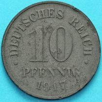 Германия 10 пфеннигов 1917 год.