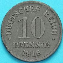 Германия 10 пфеннигов 1918 год.