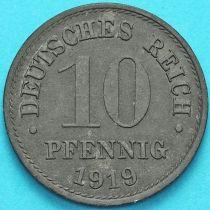 Германия 10 пфеннигов 1919 год.