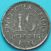 Германия 10 пфеннигов 1922 год.