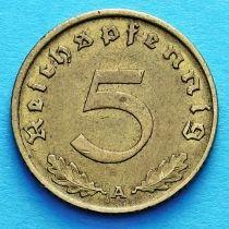 Германия 5 рейхспфеннигов 1938 год. А