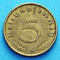 Германия 5 рейхспфеннигов 1939 год. А