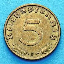 Германия 5 рейхспфеннигов 1939 год. F.