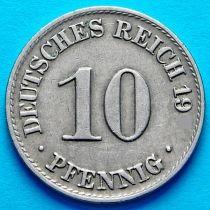 Германия 10 пфеннигов 1901 год. А