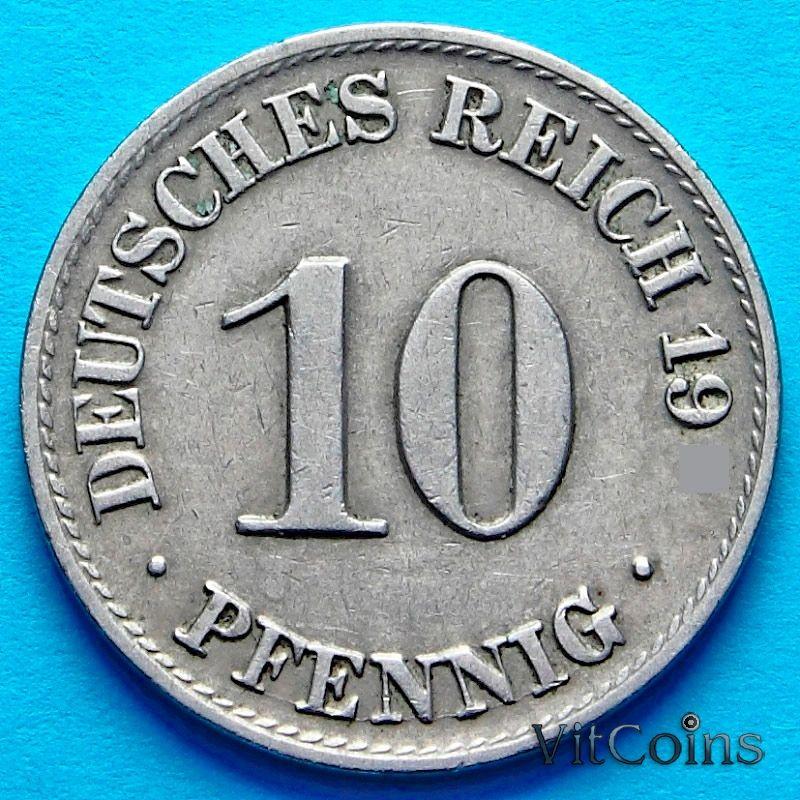 Монета Германия 10 пфеннигов 1915 год. А