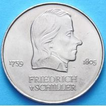 ГДР 20 марок 1972 год. Шиллер.