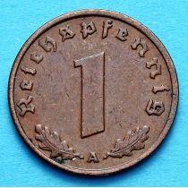 Германия 1 рейхспфенниг 1937 год. Монетный двор А.
