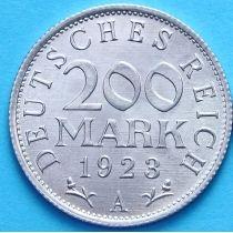 Германия 200 марок 1923 год. А