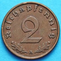 Германия 2 рейхспфеннига 1937-1940 год.
