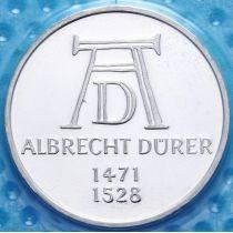 ФРГ 5 марок 1971 год. Альбрехт Дюрер. Серебро. Пруф