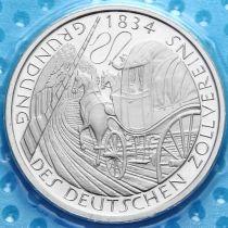 ФРГ 5 марок 1984 год. Таможенный союз. PROOF
